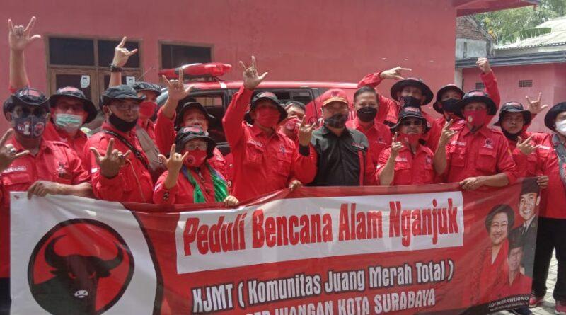 KMJT DPC PDI Perjuangan Kota Surabaya Peduli Bencana Tanah Longsor dan Banjir di Nganjuk