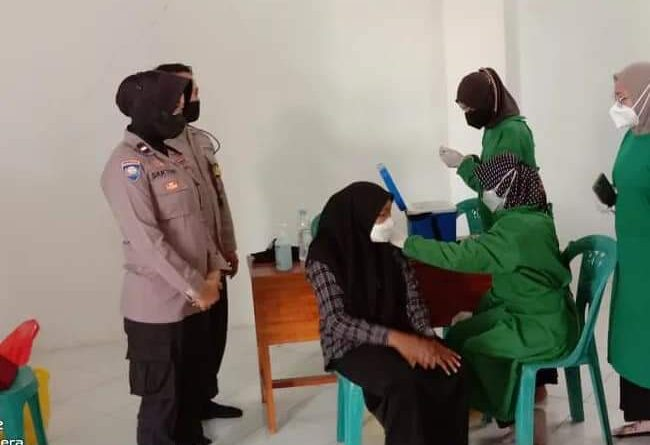 Gerai Vaksin Presisi Polres Nganjuk Sasar Warga Pondok Pesantren Al-Fattah