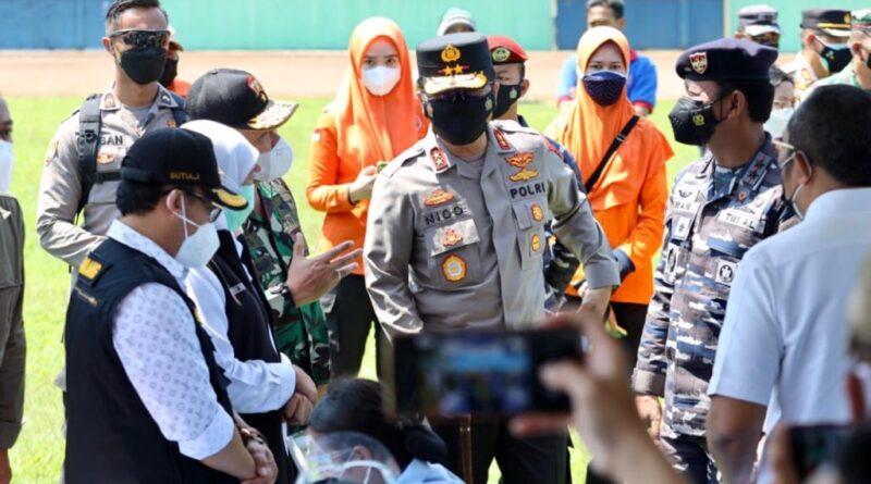 Forkompimda Jatim Cek Serbuan Vaksinasi di Stadion Gajayana Malang