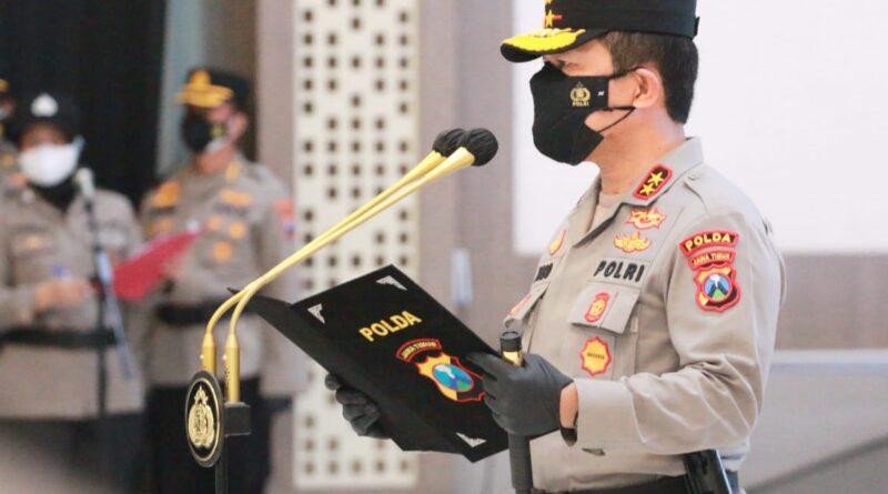 Kapolda Jatim Pimpin Sertijab PJU dan Kapolres Dengan Prokes Ketat