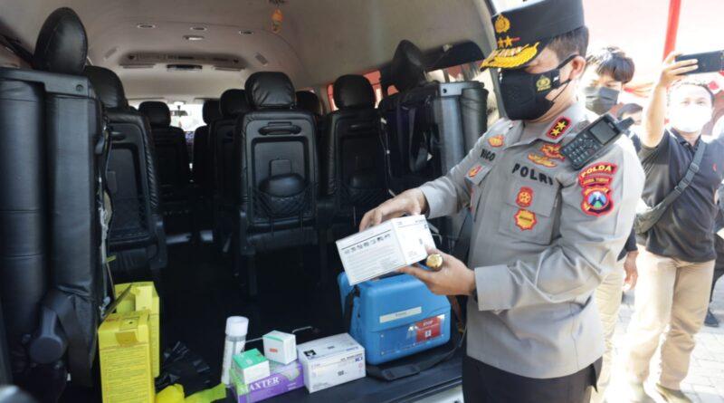 Kapolda Jatim Resmikan Mobil Vaksinasi Respon Cepat Karya Forkopimda Kota Surabaya