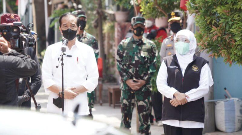 Presiden Jokowi Didampingi Forkopimda Jatim Tinjau Pelaksanaan Vaksinasi Merdeka di Jatim