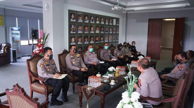Dirsamapta Polda Jatim Bahas Pelaporan Data Covid-19 di Polresta Sidoarjo