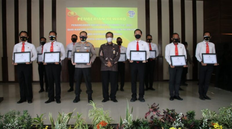 Ungkap Kasus Mafia Tanah, Polres Nganjuk Terima Penghargaan dari BPN