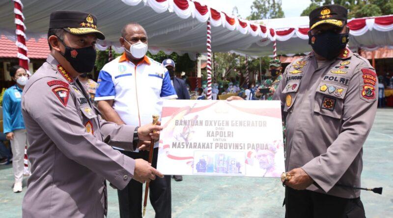 Kapolri Serahkan Oksigen Generator Bantu Penanganan Covid-19 di Papua