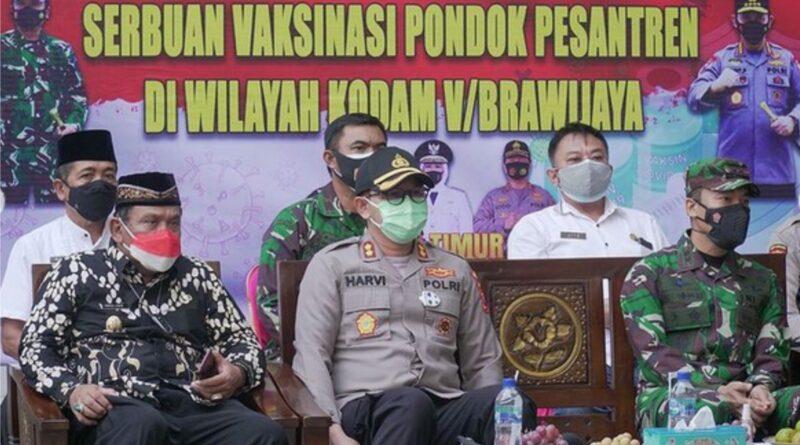 Plt Bupati Nganjuk Hadiri Serbuan Vaksinasi COVID-19 di Pondok Miftahul Mudtadin