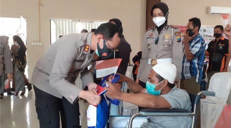 Kisah Penyandang Disabilitas Fisik Ikuti Vaksinasi Merdeka Semeru di Polres Nganjuk