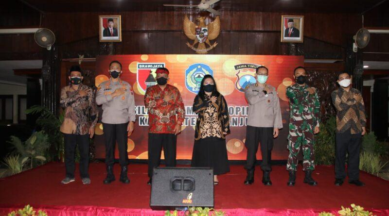 Hari Pertama Kerja, Kapolres Nganjuk Silaturahmi Bersama Forkopimda